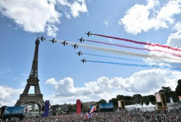 Da estação espacial à Torre Eiffel, bonjour, Paris-2024! | Stephane de Sakutin | AFP