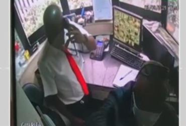 Homens escapam de tiroteio dentro de portaria no bairro da Pituba | Reprodução | Redes Sociais