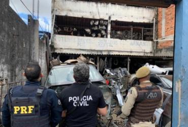 Operação contra comércio ilegal de autopeças é deflagrada no Subúrbio Ferroviário de Salvador | Divulgação/ PRF