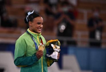 Rebeca Andrade conquista a medalha de ouro para o Brasil no salto | Lionel Bonaventure | AFP