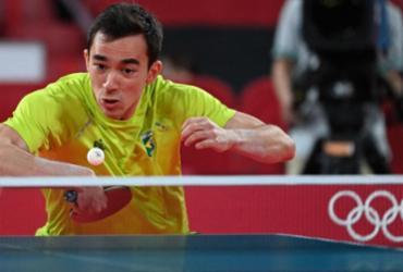 Tênis de mesa: Brasil cai nas quartas do masculino por equipes | Adek Berry | AFP