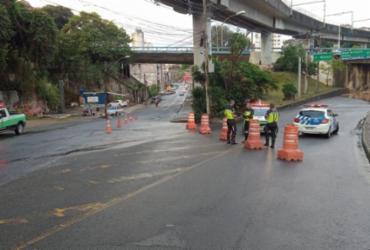 Trecho nas imediações da Arena Fonte Nova é interditado para obra emergencial | Ascom | Transalvador