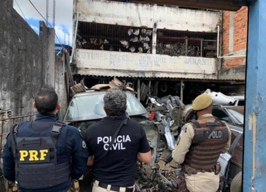 Operação contra comércio ilegal de autopeças é deflagrada no Subúrbio   Divulgação/ PRF