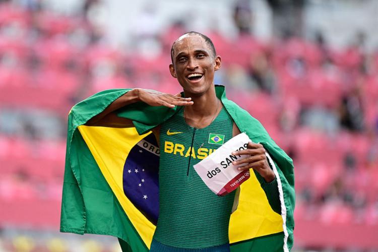 O paulista de 21 anos conquistou o bronze nesta terça-feira, 3, em Tóquio, em sua primeira participação nos Jogos Olímpicos | Foto: Javier Soriano | AFP - Foto: Javier Soriano | AFP