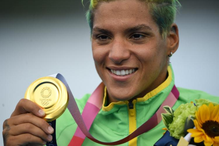 Ana Marcela vinha de outros três ciclos olímpicos antes da conquista | Foto: Olli Scarf | AFP - Foto: Olli Scarf | AFP