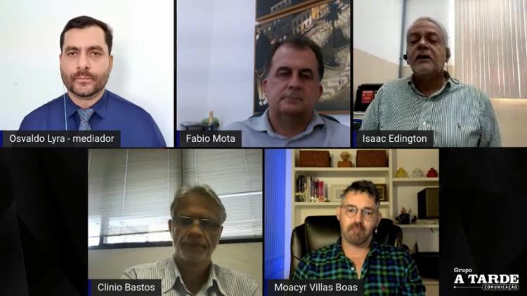 discussão foi mediada pelo jornalista Osvaldo Lyra | Foto: Reprodução/ Youtube