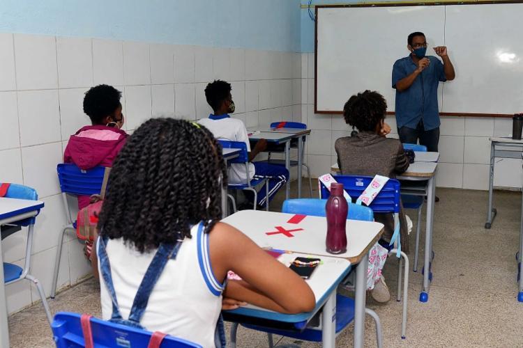 Atividades em sala de aula foram retomadas na última segunda-feira, 23   Foto: Jefferson Peixoto   Secom - Foto: Jefferson Peixoto   Secom