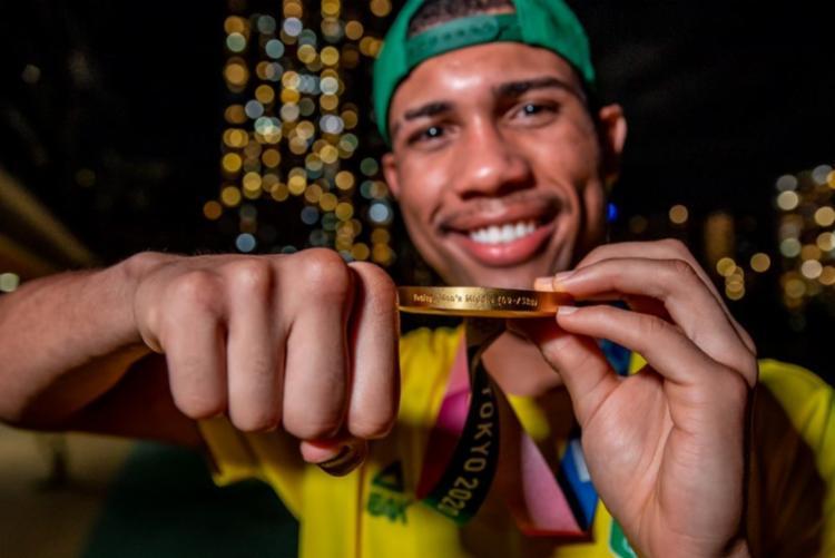 Hebert Conceição foi um dos baianos a se tornar campeão olímpico | Foto: Divulgação | Time Brasil - Foto: Divulgação | Time Brasil