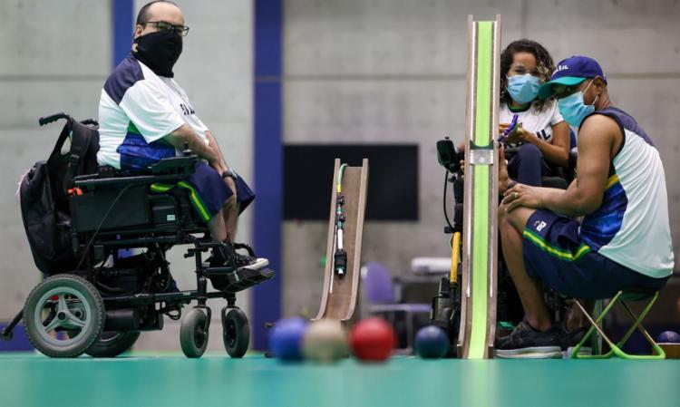 Modalidade é voltada a atletas com grau severo de comprometimento   Foto: Matsui Mikihito   CPB - Foto: Matsui Mikihito   CPB