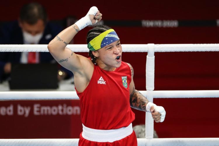Além do pódio com Bia Ferreira, o Brasil também já tem garantido o bronze com outros dois boxeadores  Foto: Gaspar Nóbrega   COB - Foto: Gaspar Nóbrega   COB