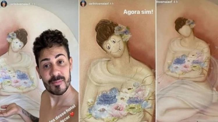 Humorista rabiscou a obra da artista plástica   Foto: Reprodução   Instagram - Foto: Reprodução   Instagram