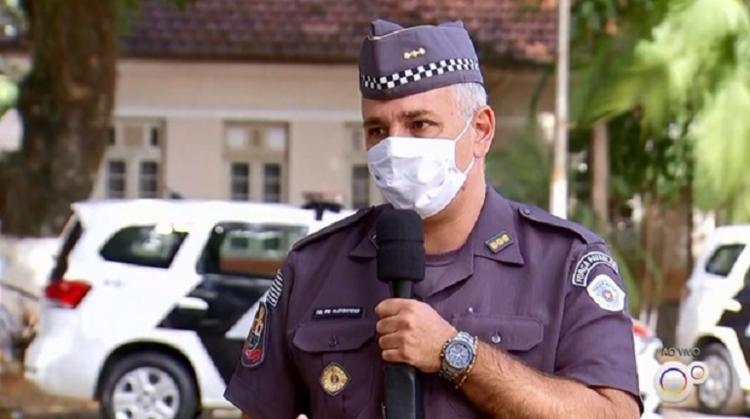 Aleksander Lacerda estava à frente do Comando de Policiamento do Interior (CPI) 7, em Sorocaba   Foto: Reprodução   TV TEM - Foto: Reprodução   TV TEM