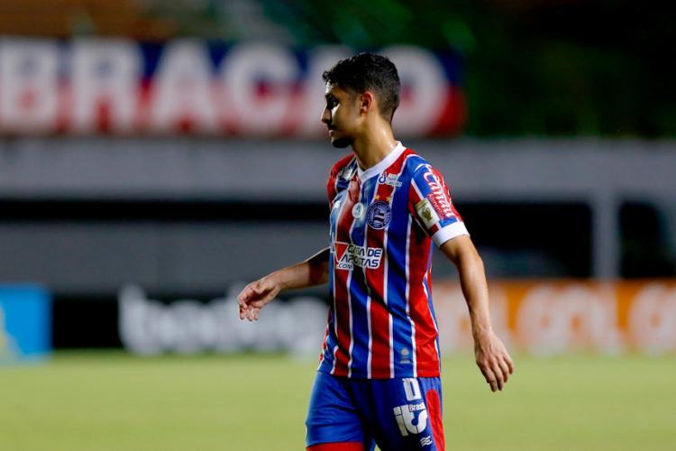 Anteriormente, o jogador de 25 anos tinha contrato vigente com o Esquadrão até o final da atual temporada   Foto: Felipe Oliveira   EC Bahia - Foto: Felipe Oliveira   EC Bahia