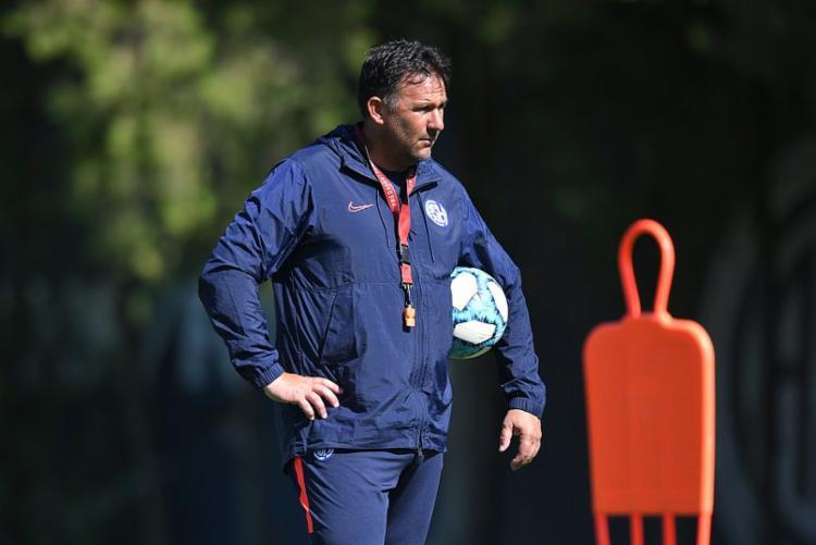 O último trabalho do treinador foi no San Lorenzo, equipe em que permaneceu até maio deste ano   Foto:San Lorenzo   Divulgação
