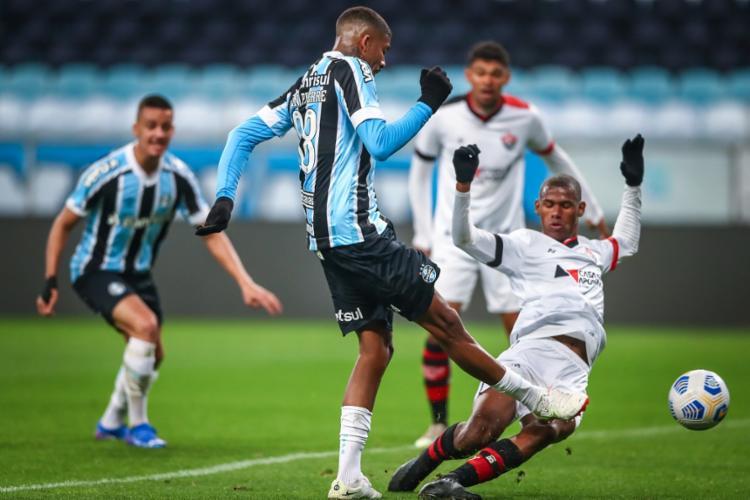 Tricolor venceu partida em ritmo de treino em Porto Alegre | Foto: Lucas Uebel | Grêmio FBPA - Foto: Lucas Uebel | Grêmio FBPA