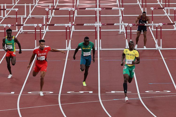 Na semifinal 1, o brasileiro completou a prova na oitava e última posição   Foto: Giuseppe Cacace   AFP - Foto: Giuseppe Cacace   AFP