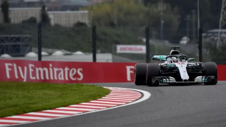 O heptacampeão da Fórmula 1, Lewis Hamilton, em ação no último GP do Japão | Foto: Toshifumi Kitamura | AFP - Foto: Toshifumi Kitamura | AFP
