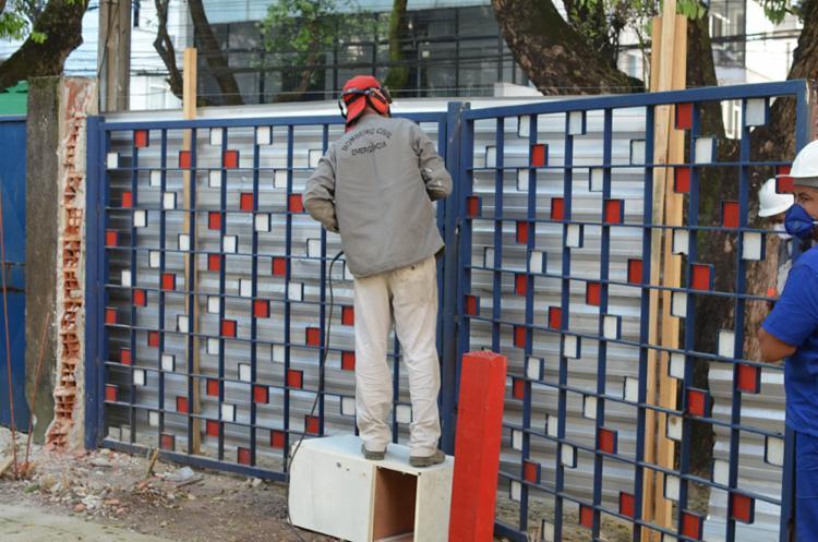 Grades da Acbeu foram para casa na Rua Chile | Foto: Divulgação - Foto: Divulgação
