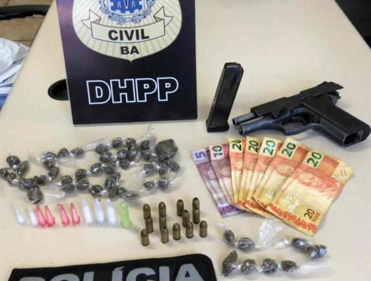Material seguirá para perícia no Departamento de Polícia Técnica (DPT) | Foto: Divulgação | Ascom PC - Foto: Divulgação | Ascom PC