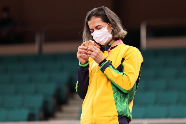 Essa foi a sua terceira medalha conquistada em Paralimpíadas | Foto: Reprodução | Twitter | @CPB - Foto: Reprodução | Twitter | @CPB