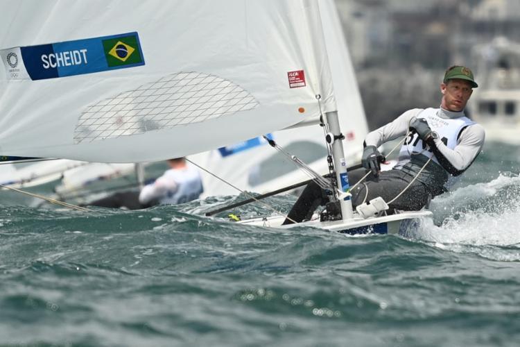 Robert Scheidt segue sendo, ao lado do também velejador Torben Grael, o maior medalhista olímpico do Brasil   Foto: Peter Parks   AFP - Foto: Peter Parks   AFP