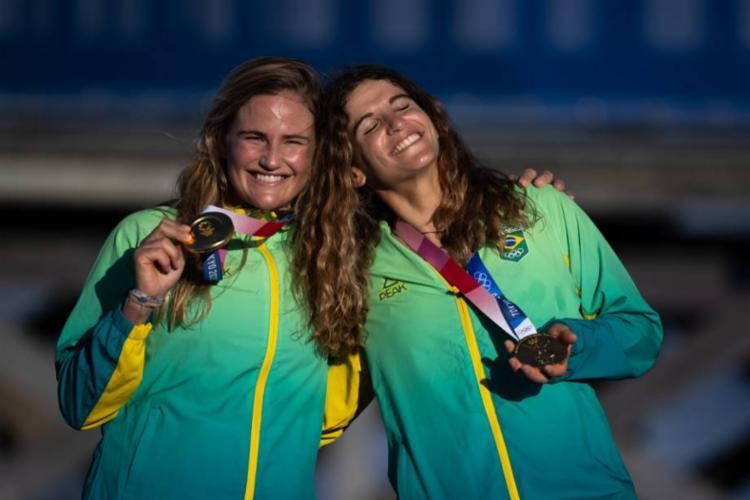É o terceiro ouro do Brasil nas Olimpíadas de Tóquio. Ítalo Ferreira, no surfe, e Rebeca Andrade, na ginástica, conquistaram os outros. Veja como está o Brasil no quadro de medalhas. - Foto: AFP