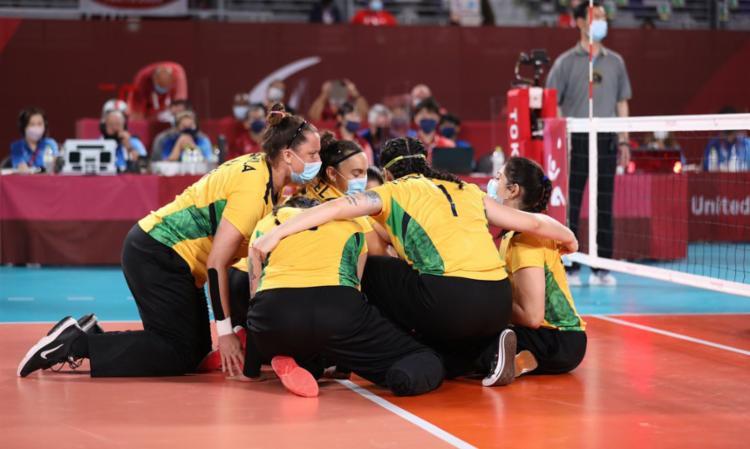 Brasil venceu o Canadá, de virada, por 3 sets a 2   Divulgação   Comitê Paralímpico Brasileiro - Foto: Divulgação   Comitê Paralímpico Brasileiro