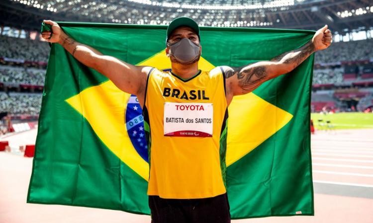 Brasileiro bate próprio recorde na competição com marca de 45m59   Foto: Miriam Jeske   CPB   Diretos Reservados - Foto: Miriam Jeske   CPB   Diretos Reservados