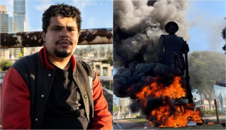 Paulo Galo foi preso no último dia 28 de julho, ao admitir participação no ato | Foto: Reprodução | Redes Sociais - Foto: Reprodução | Redes Sociais