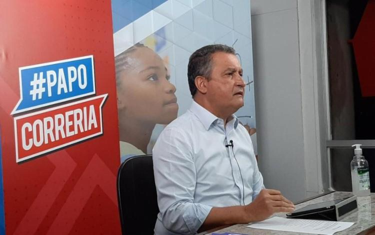 Governador da Bahia comentou o assunto no Papo Correria desta quarta | Foto: Divulgação - Foto: Divulgação