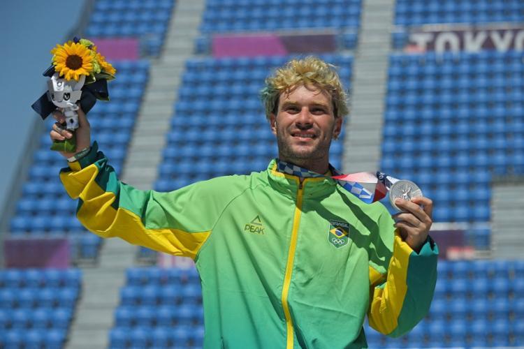 Com uma pontuação de 86.14, o brasileiro ficou atrás do australiano Keegan Palmer (95.83) | Foto: Lionel Bonaventure | AFP - Foto: Lionel Bonaventure | AFP