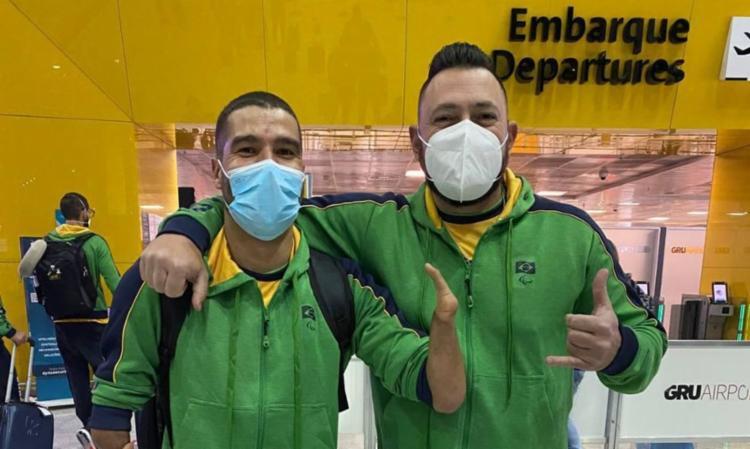 Seleções de quatro esportes foram festejadas ao sair do CT Paralímpico   Foto: Divulgação   Daniel Dias - Foto: Divulgação   Daniel Dias
