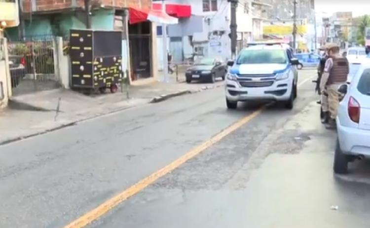 Crime ocorreu na madrugada desta quarta-feira, 4, em agência na Fazenda Grande do Retiro - Foto: Reprodução/TV Bahia