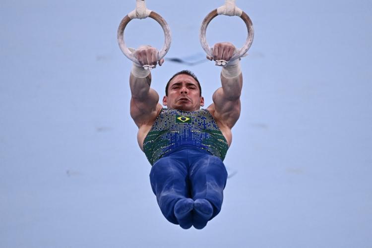 Arthur Zanetti, de 31 anos, além das duas medalhas olímpicas, tem um ouro e três pratas em Mundiais | Foto: Lionel Bonaventure | AFP - Foto: Lionel Bonaventure | AFP