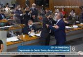 Renan e Jorginho Mello trocam ofensas durante CPI da Covid | Foto: Reprodução