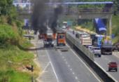 Caminhão que transportava carne é incendiado na BA-526 | Foto: