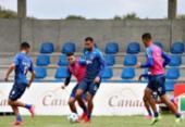 Dabove comanda treino de ataque contra defesa e finalização | Foto: Felipe Oliveira | EC Bahia