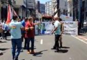 Profissionais da saúde realizam manifestação no Centro de Salvador | Foto: Reprodução | TV Bahia