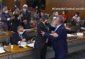 Renan e Jorginho Mello trocam ofensas durante CPI | Reprodução