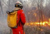 Bombeiros e brigadistas controlam fogo em Lençóis | Divulgação | CBMBA