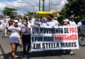 Moradores de Stella Maris protestam contra violência   Reprodução   Redes Sociais