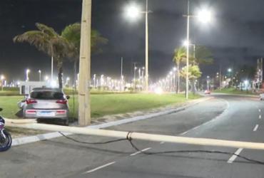 Três pessoas ficam feridas em acidentes de trânsito na orla de Salvador | Reprodução | TV Bahia