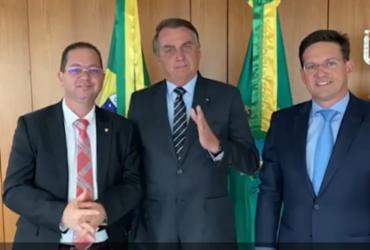 Após anúncio de expulsão do PDT, Alex Santana se reúne com Bolsonaro e João Roma | Reprodução I Instagram