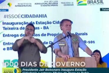 Na Bahia, Bolsonaro diz ter chegado à presidência por 'obra de Deus' e critica adversários | Reprodução: Youtube