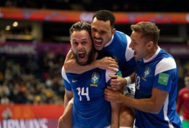 Brasil derrota o Marrocos e vai à semifinal da Copa do Mundo de futsal | Lucas Figueiredo | CBF | Direitos Reservados