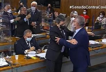 Renan e Jorginho Mello trocam ofensas durante CPI da Covid | Reprodução