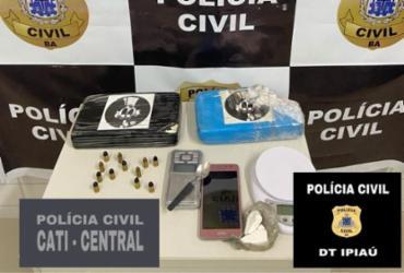 Dupla é presa com dois quilos de cocaína no município de Ipiaú
