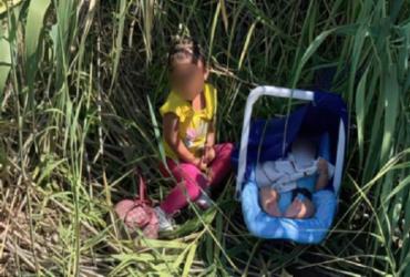 Crianças abandonadas são achadas na fronteira entre EUA e México | Reprodução | CBP | Fox News