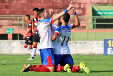 Bahia consegue virada sobre o Vitória e sai na frente na decisão do Baianão sub-20   Divulgação   EC Bahia