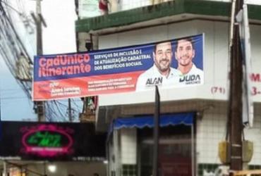 TRE determina retirada de faixa de Alan e Duda Sanches em São Cristóvão | Divulgação | TRE